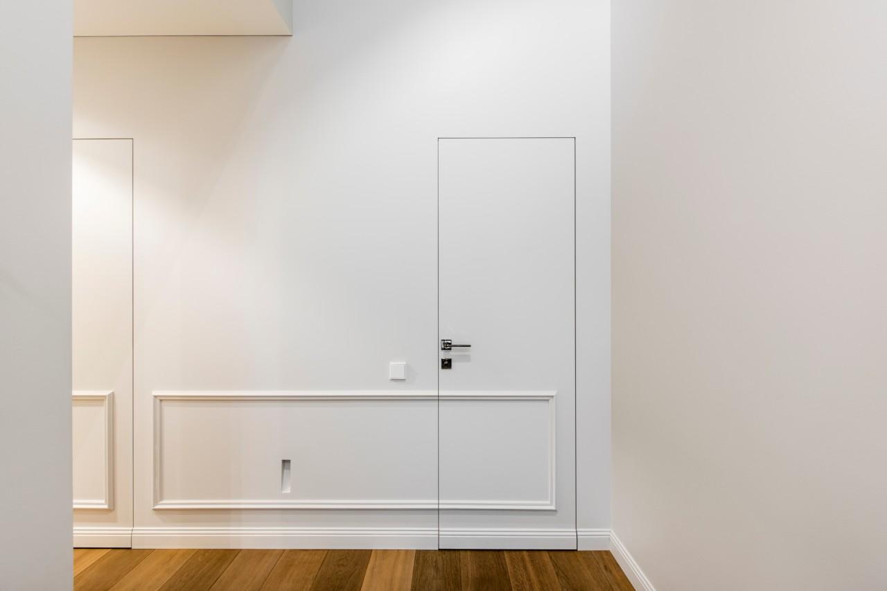 Modernus interjeras sienos vaizdas