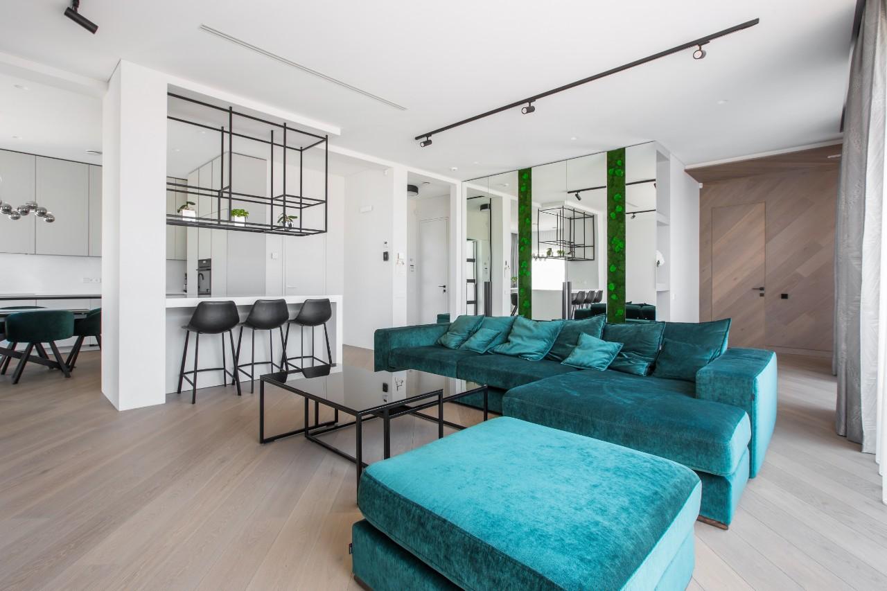 Modernus interjeras svetainėje