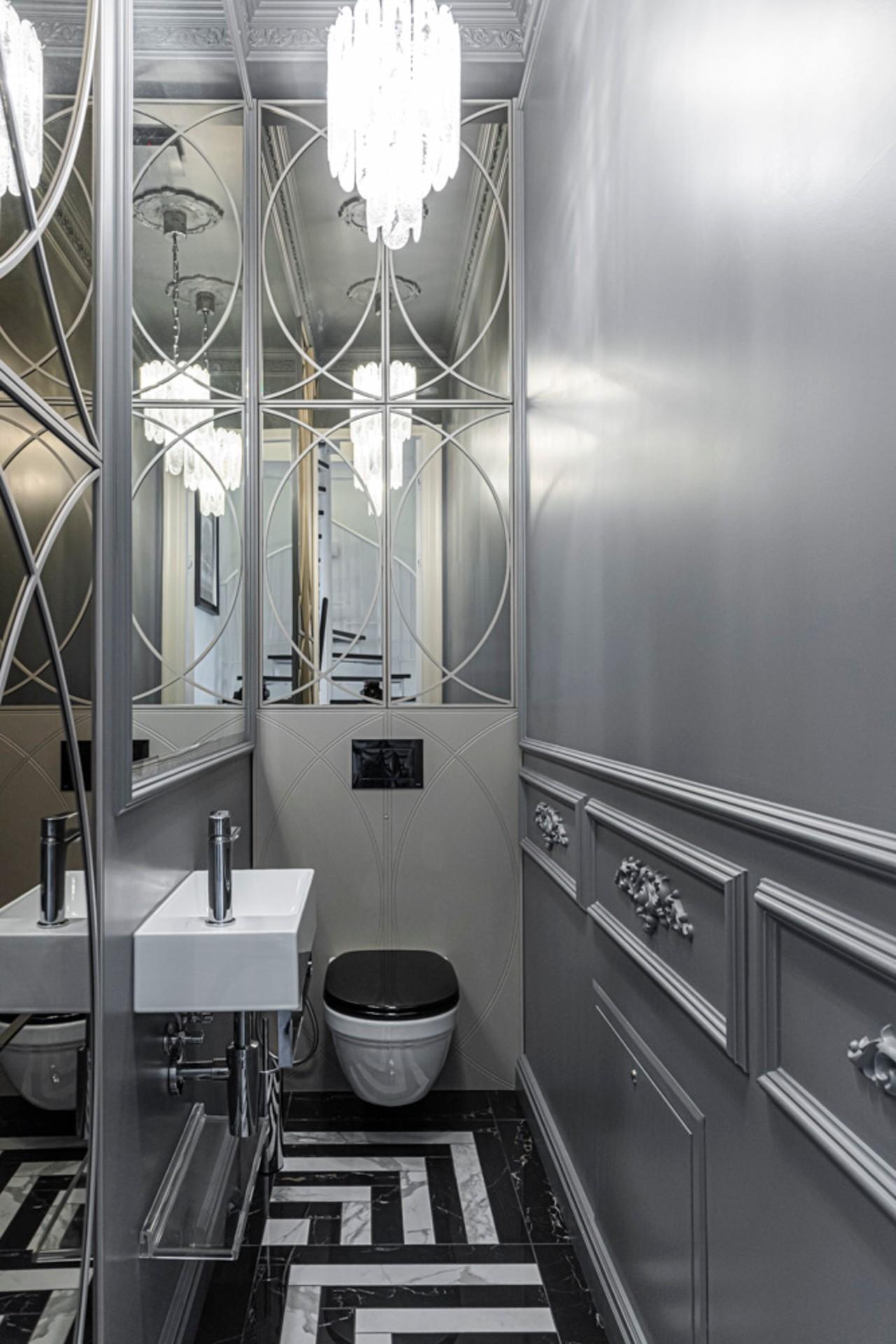 Pailgo kambario interjeras vonioje
